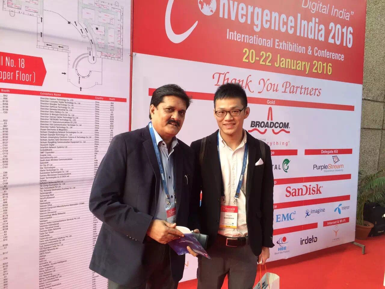 SINOVO Attended the 25st Convergence India 2016