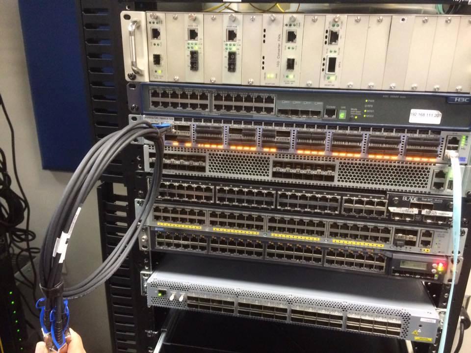 Sinovo Telecom Win 100G  4x25G Cable bidding Intel