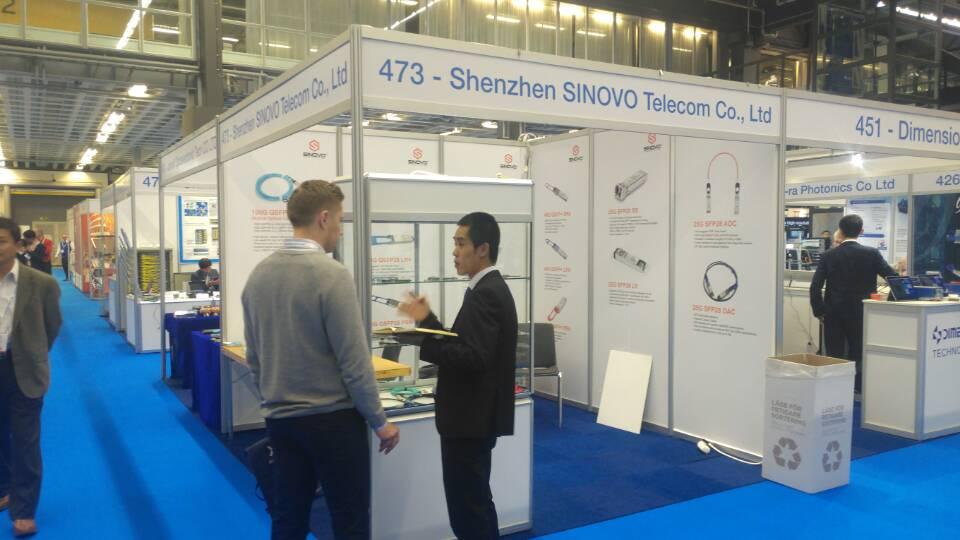 Sinovo Telecom take 200G in ECOC Goteborg, Sweden